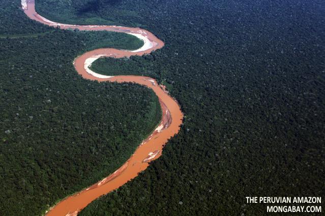 River in Madre de Dios, Peru