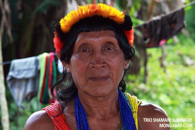 Tiriyo (Trio) shaman in southern Suriname