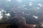 Peat forest newly cleared for an oil palm plantation in Peninsular Malaysia