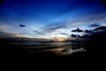 Sunset on a beach in Kota Kinabalu