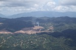 Fire burning on an oil palm plantation -- sabah_1815
