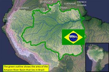 Ein Bild des Amazonasbeckens von der NASA