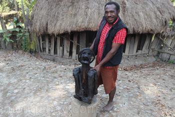 Mumifizierter Mensch in Neuguinea