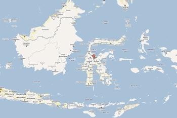 Mapa de Sulawesi