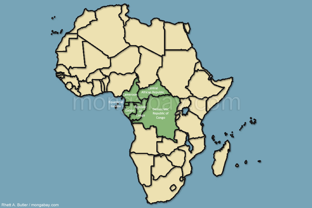 Congo Basin Rainforest Map Congo Tour: Map: Congo basin countries