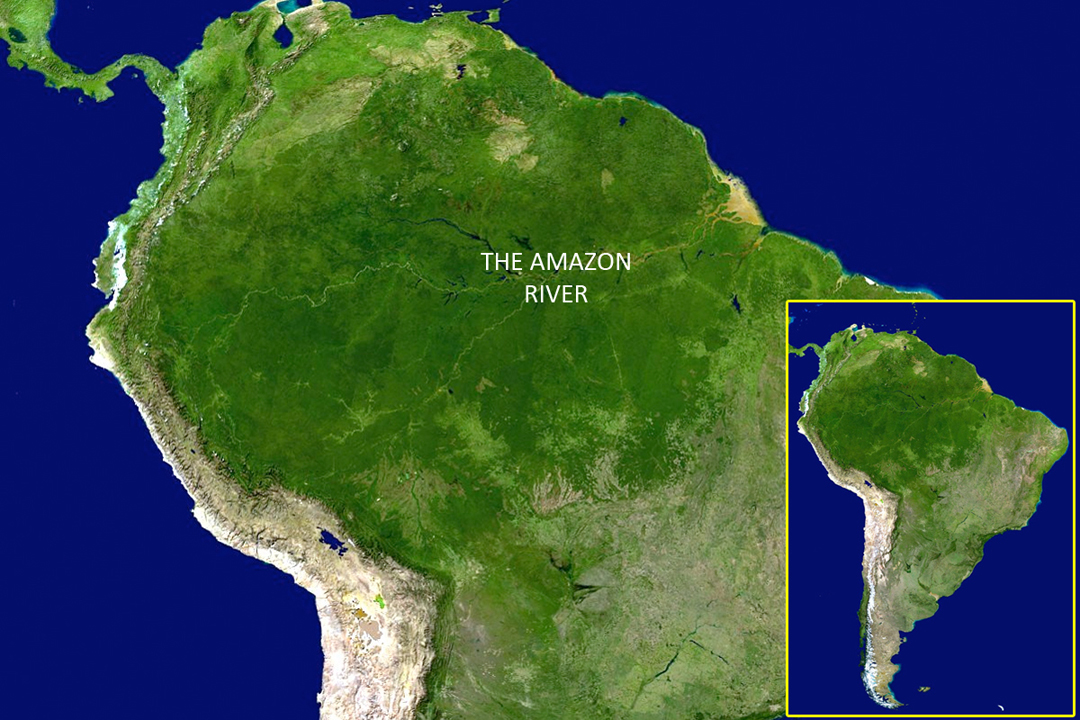 Amazon Tour Nasa Satellite Image Of South America Including The
