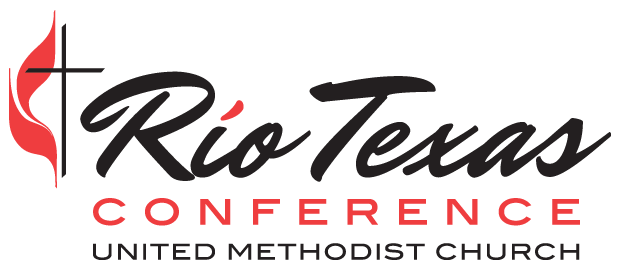 rio texas conference logo with methodist flame