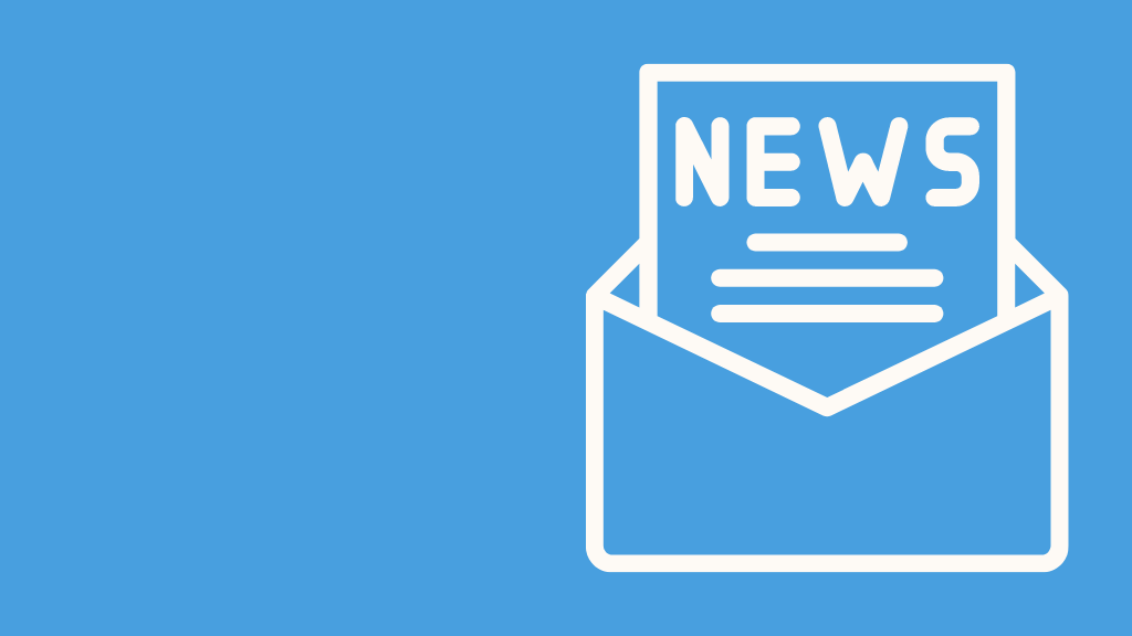 graphic of a news letter in an envelope
