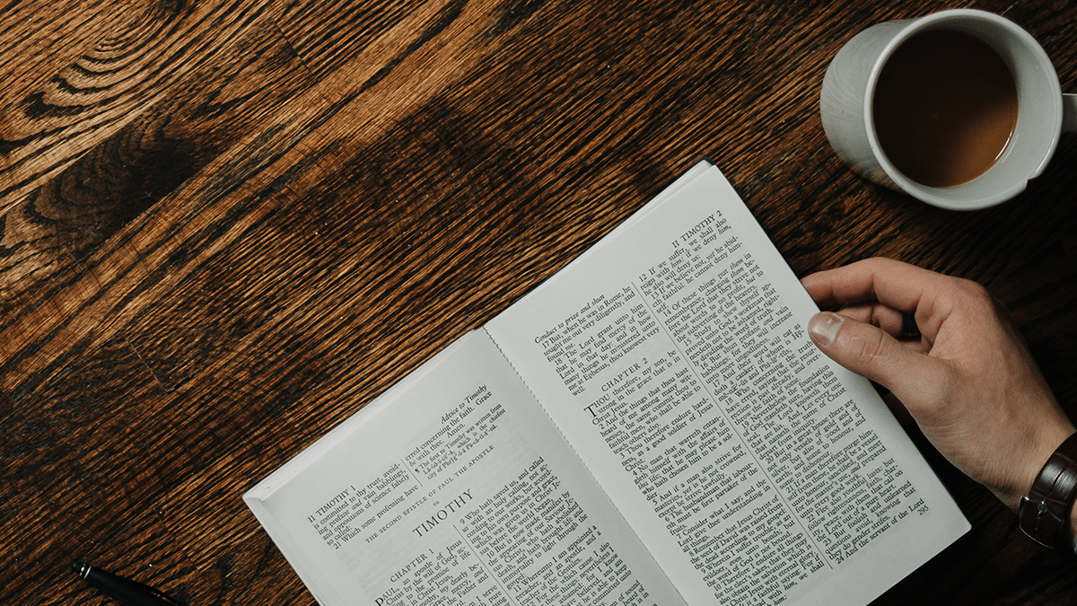 photo: Bible and coffee cup