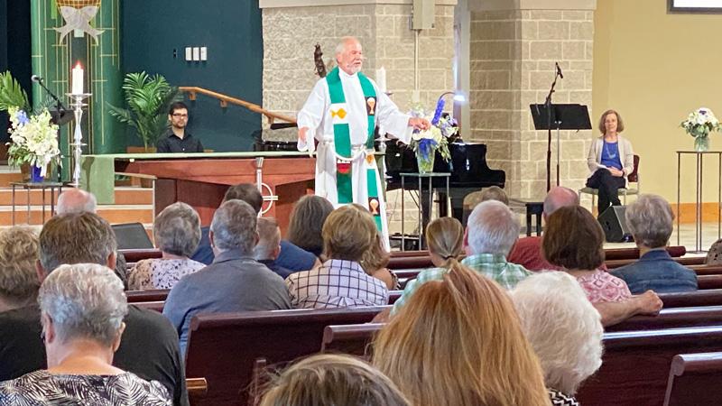 photo: Pastor Greg preaching