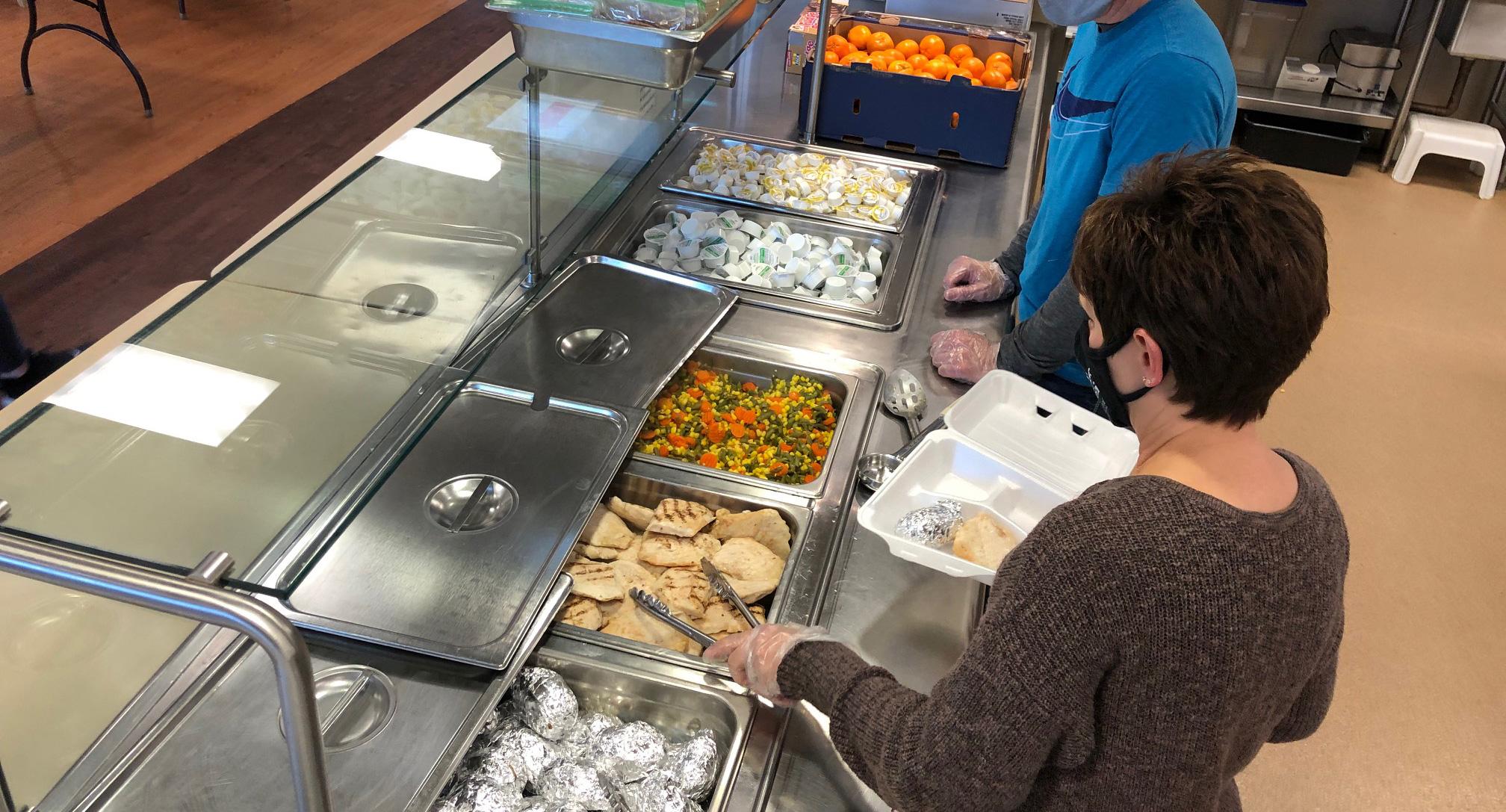 photo: serving food