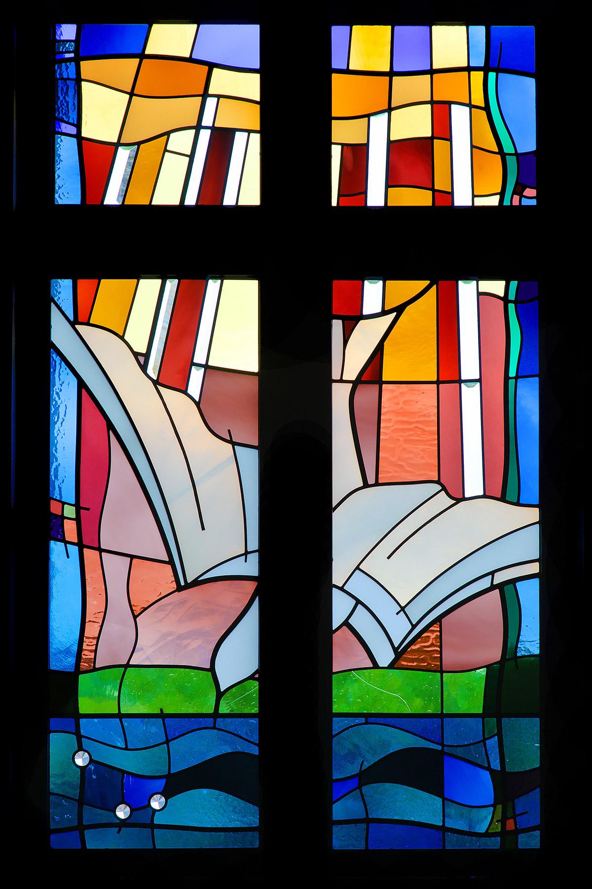 photo: Spirit stained glass window