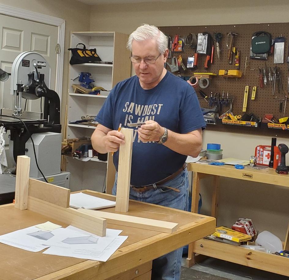 Tom Bozek in workshop