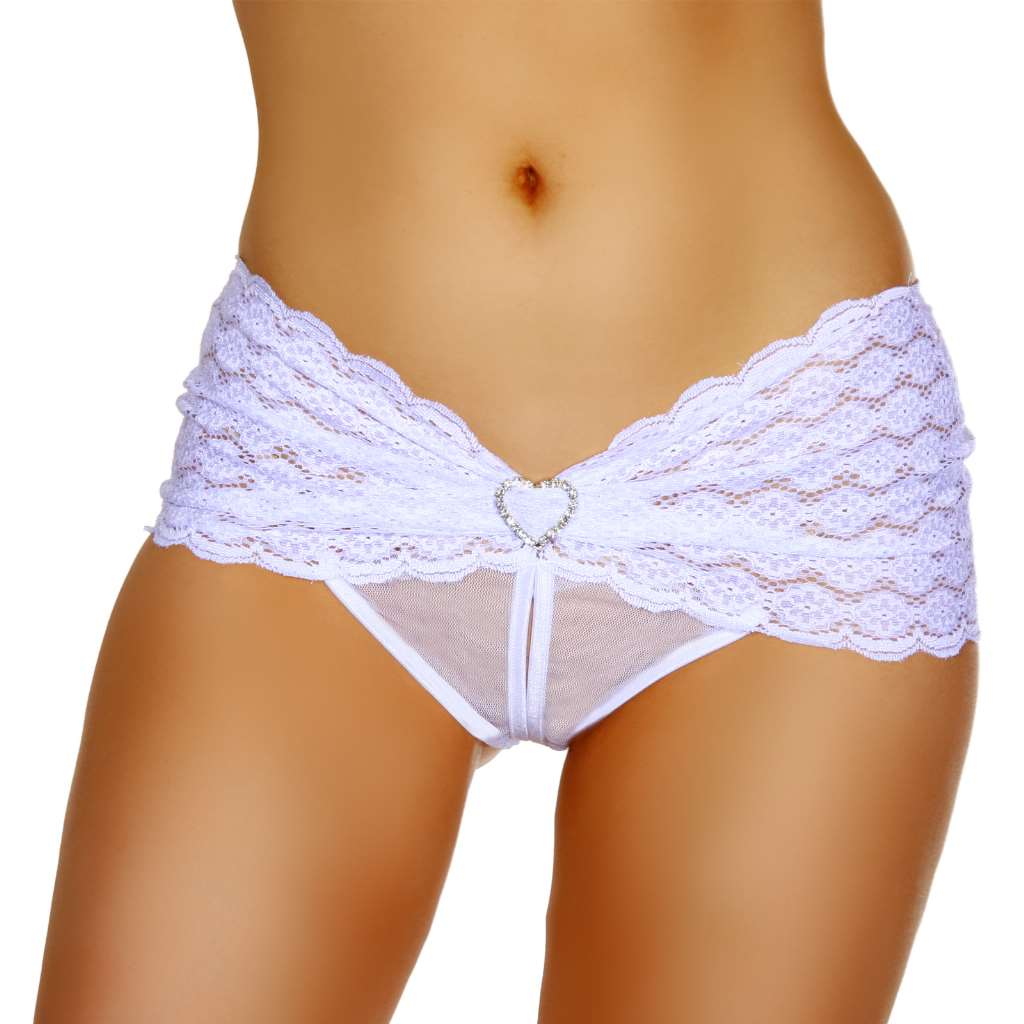 White crotchless panties impossible