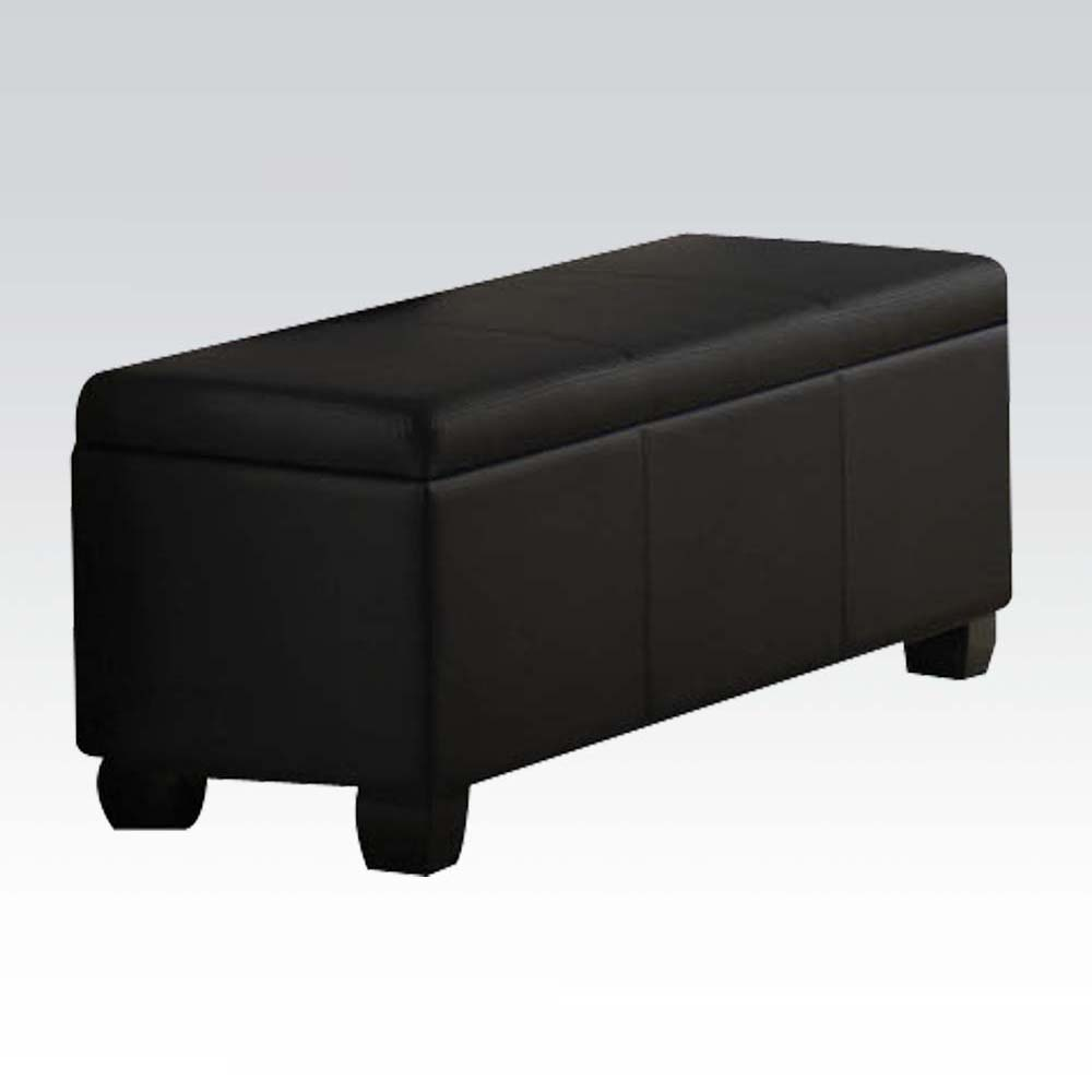 Details about ACME Furniture 14343 Ireland Collection Storage Bench Contemporary Style - Black