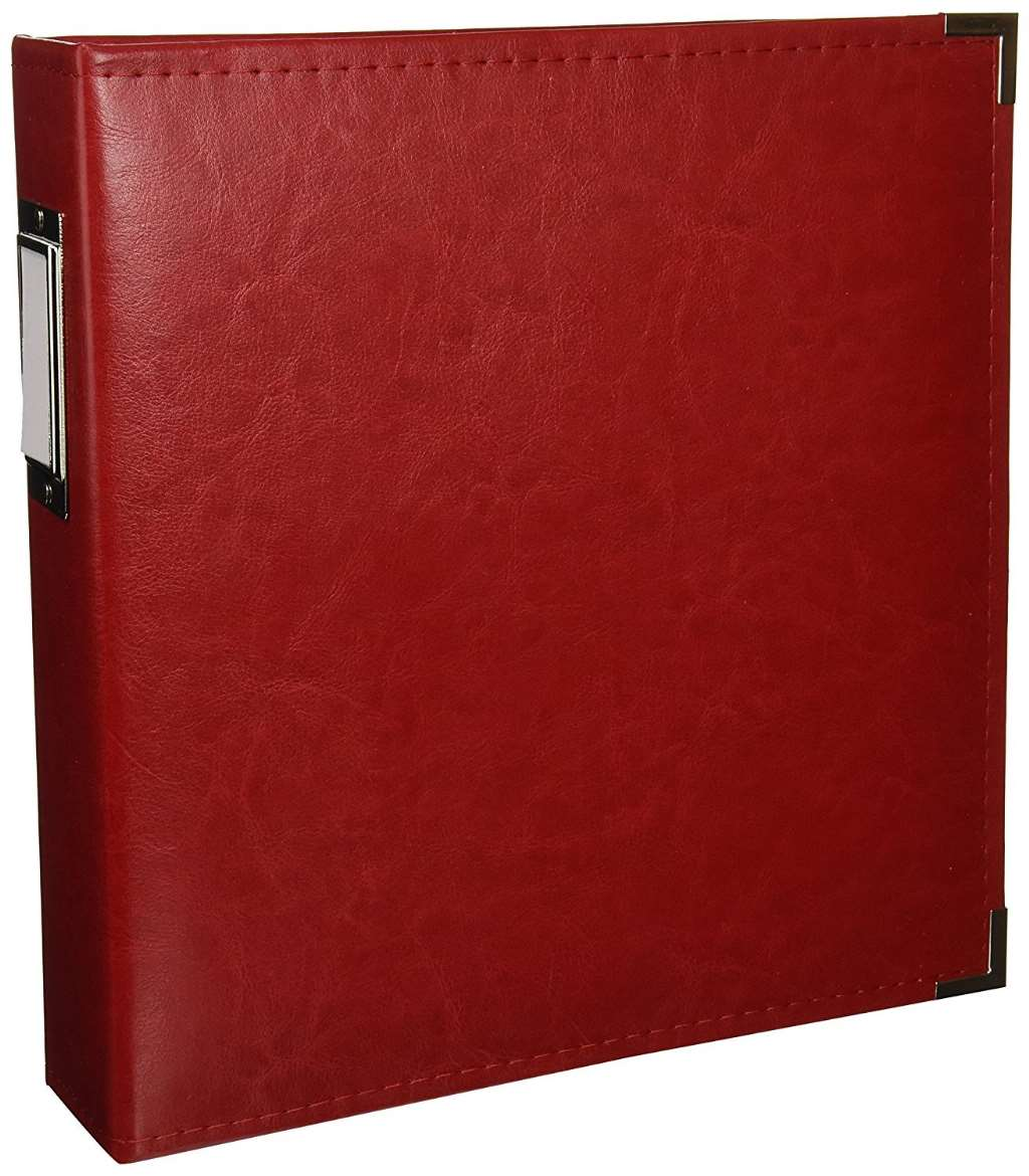 American Crafts We R Memory Keepers Classic Leather Scrapbook Album