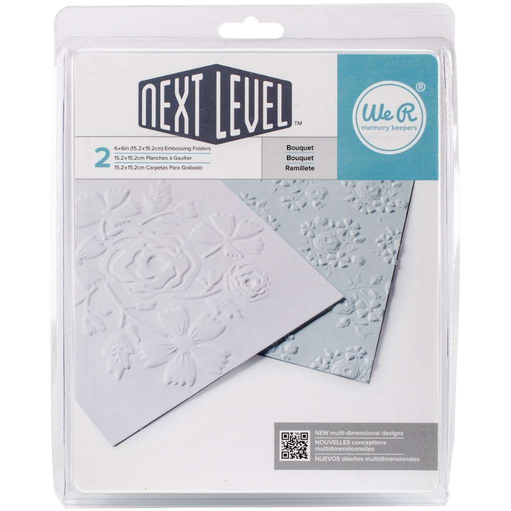 American Crafts We R Memory Keepers Next Level Embossing Folder, Bouquet