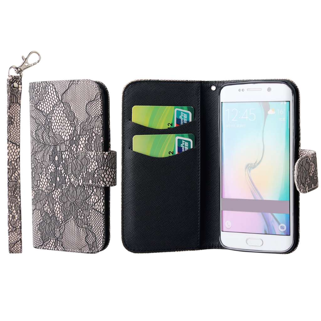 For Samsung Galaxy S6 Edge Phone Case Wallet Credit Card ...