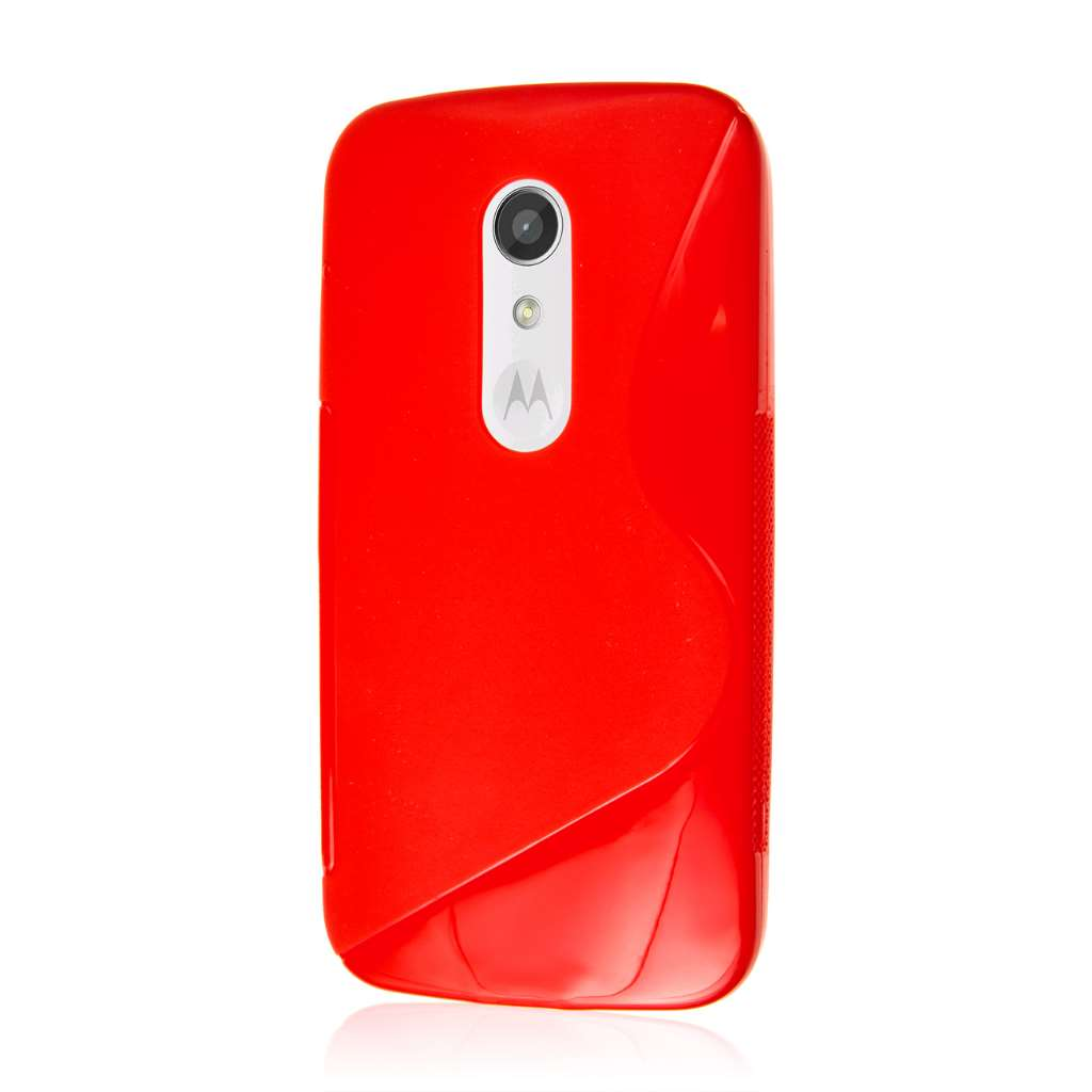 new product b19d8 43e19 AXP Red S Curve Flex Cover Case for Motorola Moto G 2nd Gen