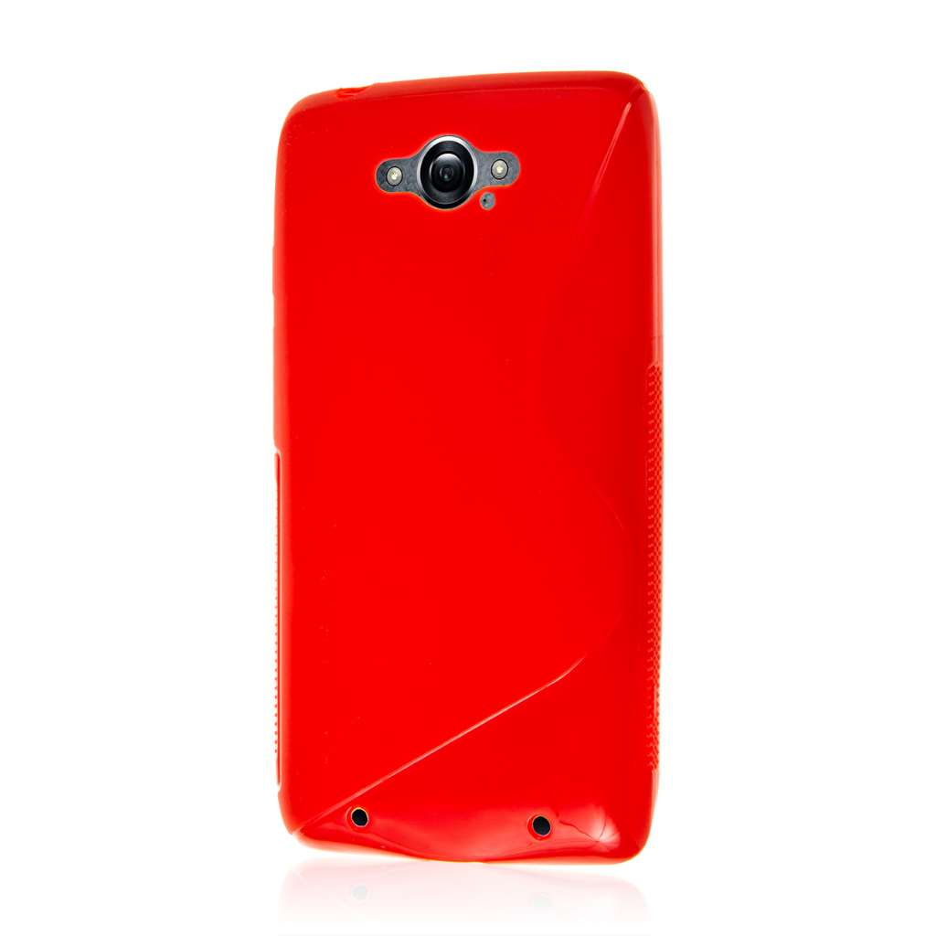 cheap for discount 20b76 d7ff1 AXP Red S Curve Flex Cover Case for Motorola Droid Turbo