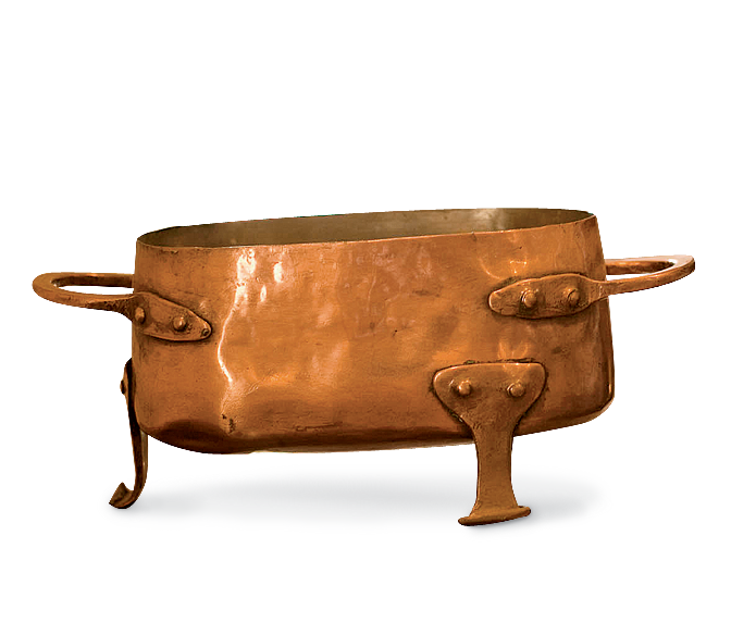 Jefferson purchased copper kitchenware in France