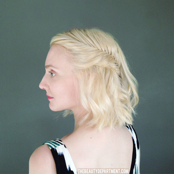 Half Up Hairstyles For Short Hair For Prom 105