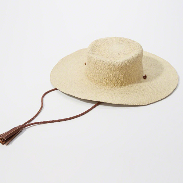 safari style straw sun hats for women with neck strap