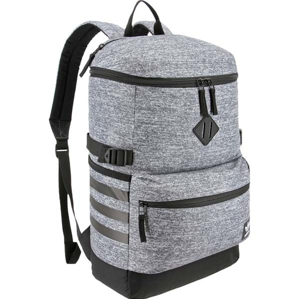 adidas backpack in gray with black hardware