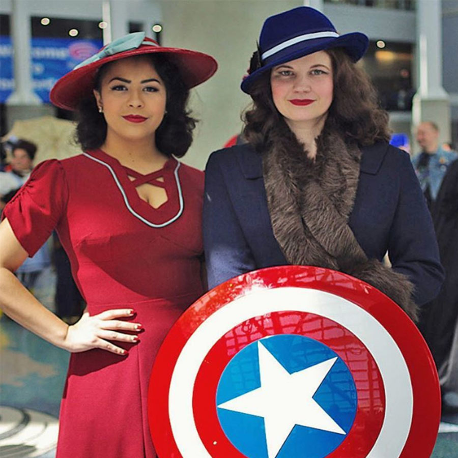 Captain America Peggy Carter Halloween Costume