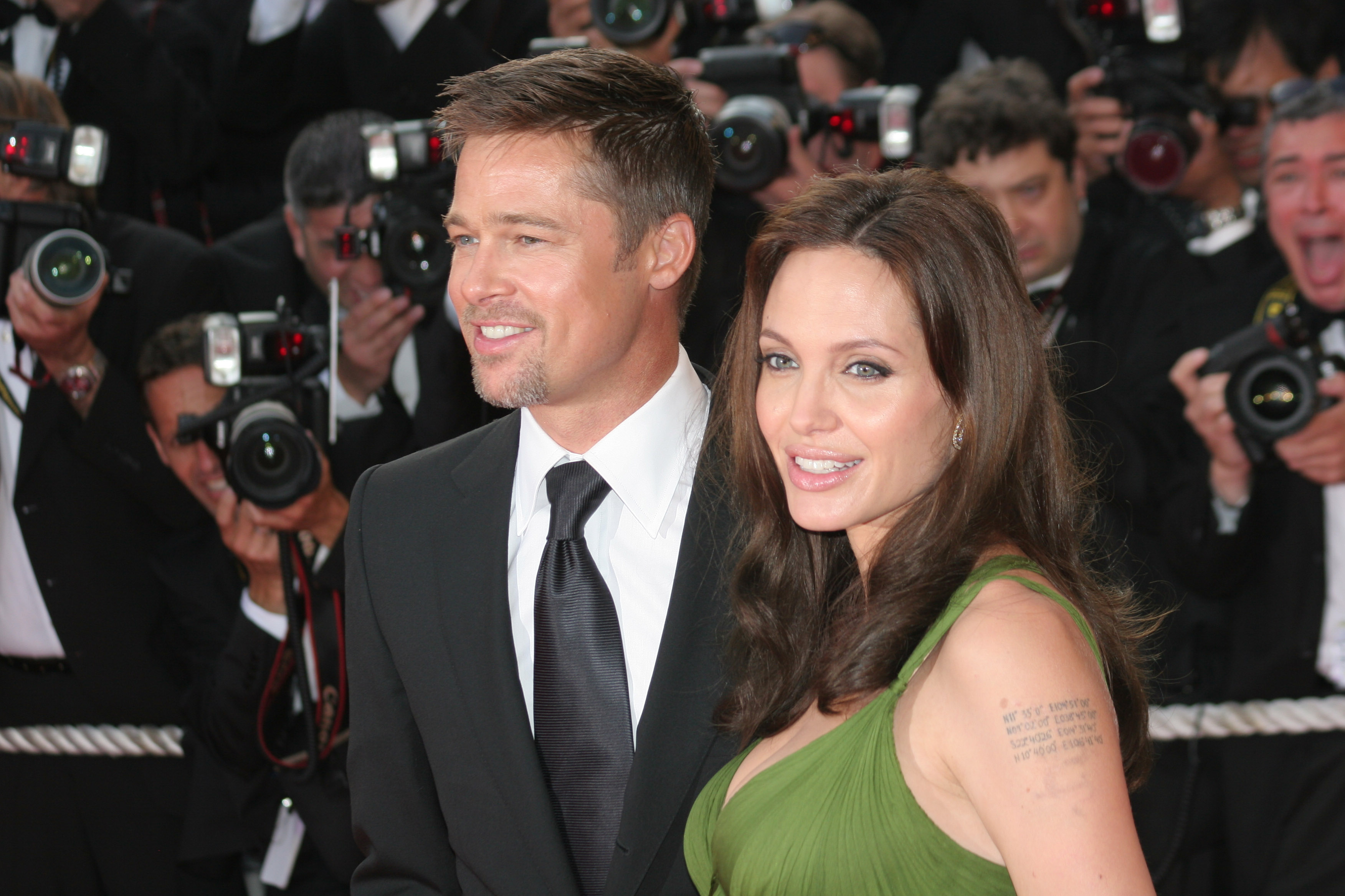 Angelina Jolie and Brad Pitt at the Cannes Premiere of Kung Fu Panda