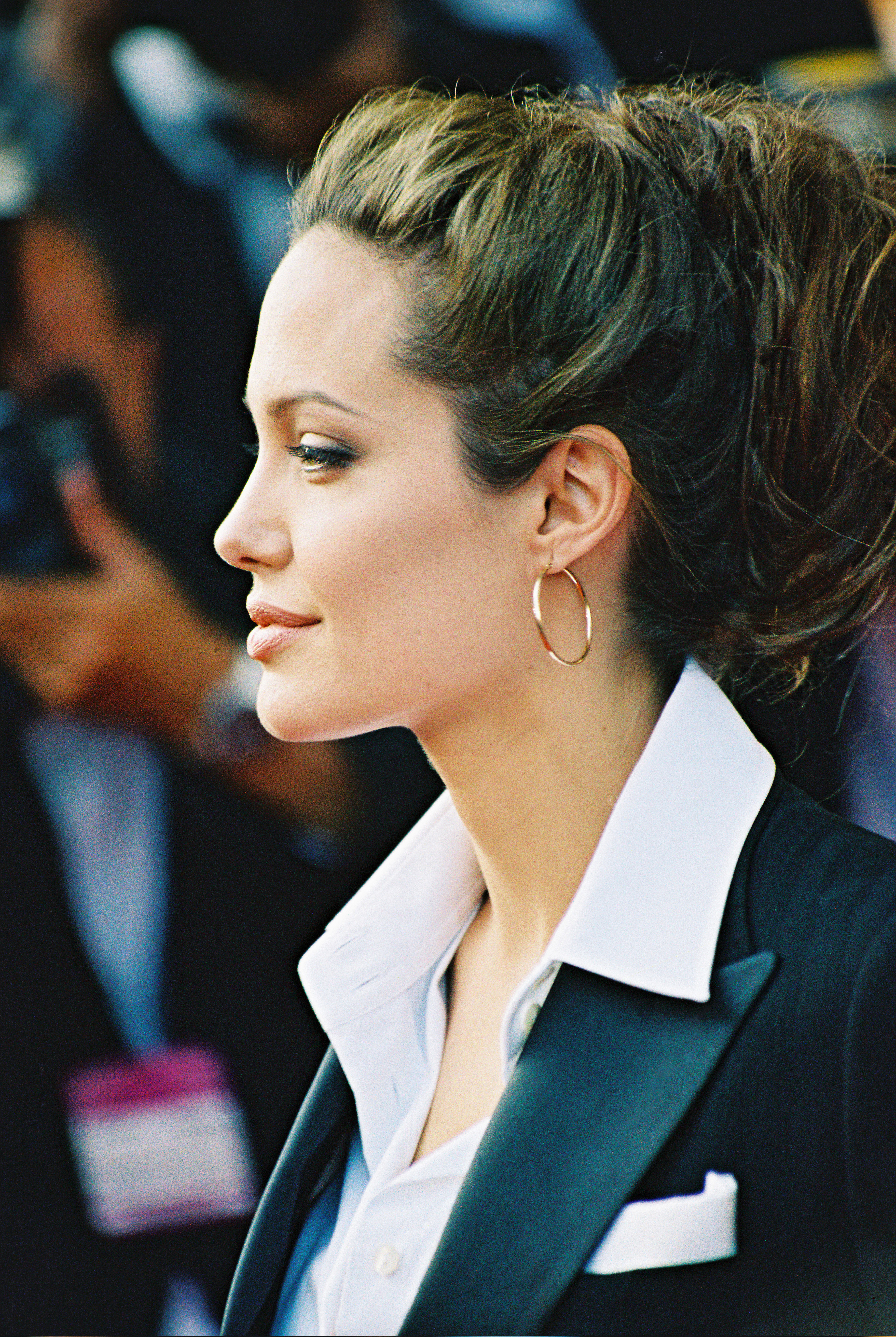 angelina jolie at the shrek 2 premiere at the cannes film festival