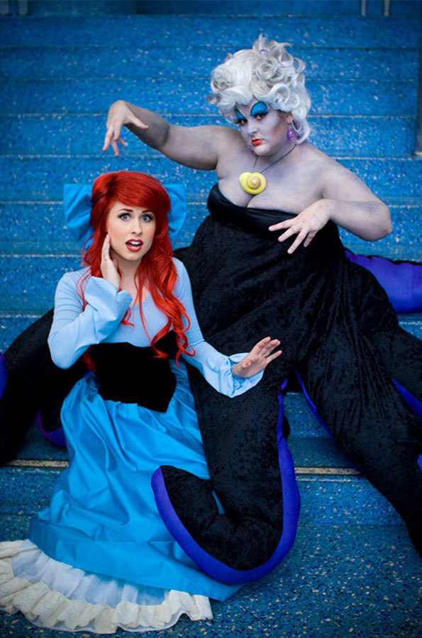 Ariel and Ursula from 'The Little Mermaid' Costumes