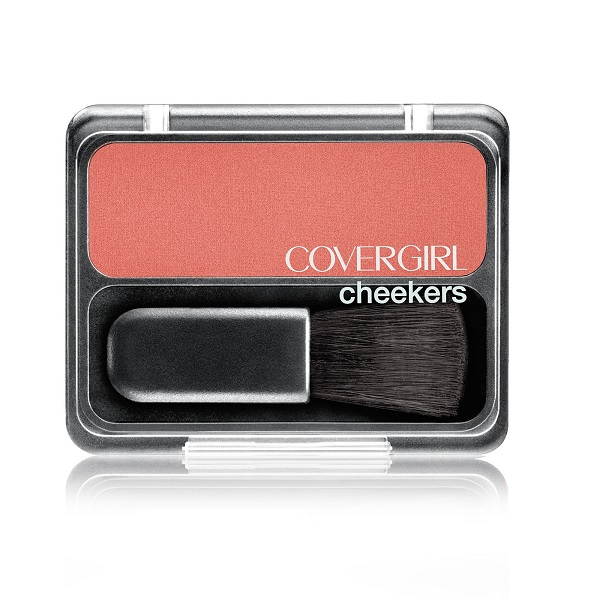 covergirl drugstore blush in a pink brown color