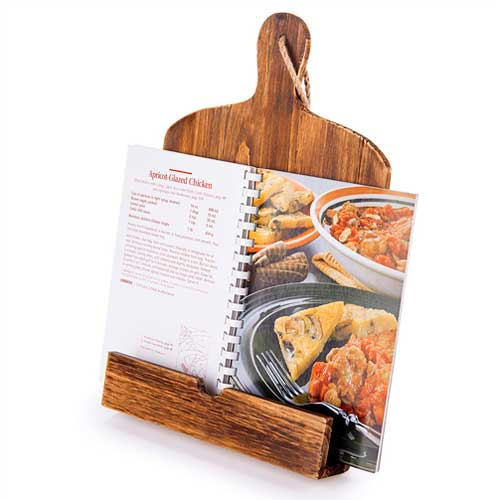 For Mom: Wood Cookbook/iPad Stand