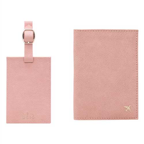 For the World Traveler: Beis Luggage Tag & Passport Holder Set