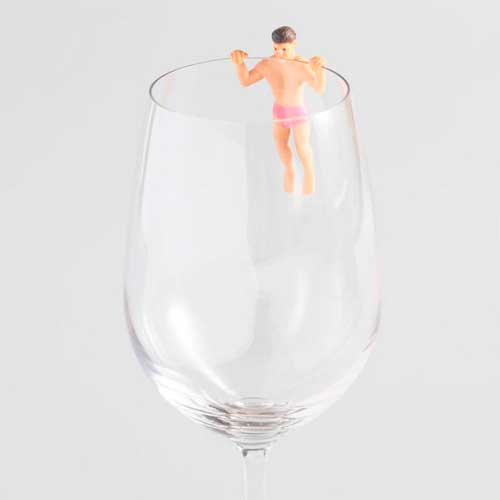 For the Wino: Drinking Buddies Glass Markers