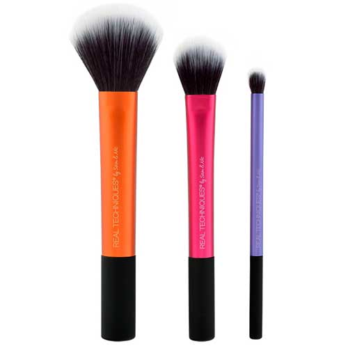 Real Techniques three-piece makeup brush set