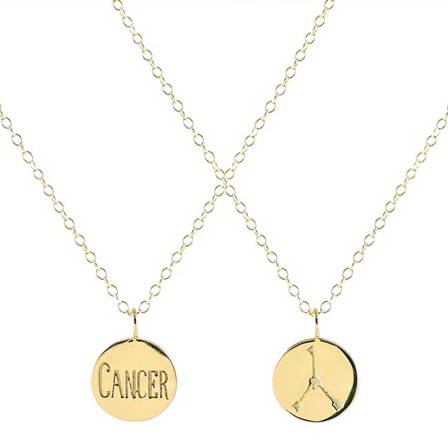 Kris Nations Zodiac Charm Necklace – Cancer Sign