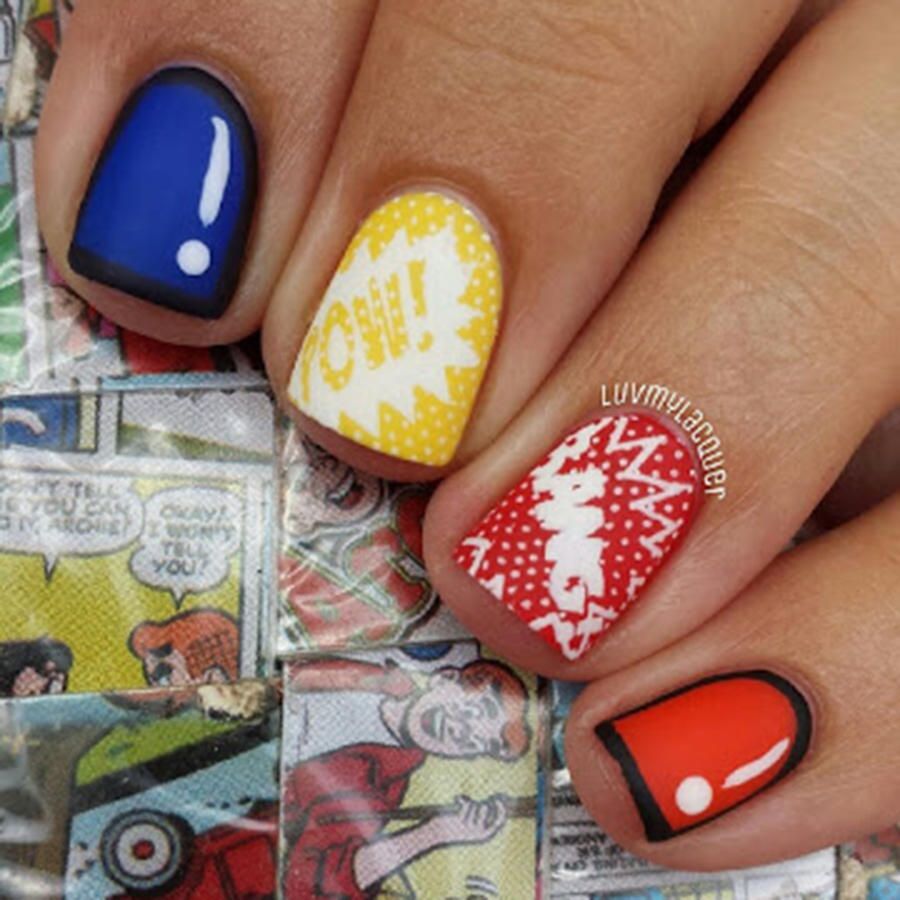 27 Powerful Nail Designs for Any Comic Nerd , More