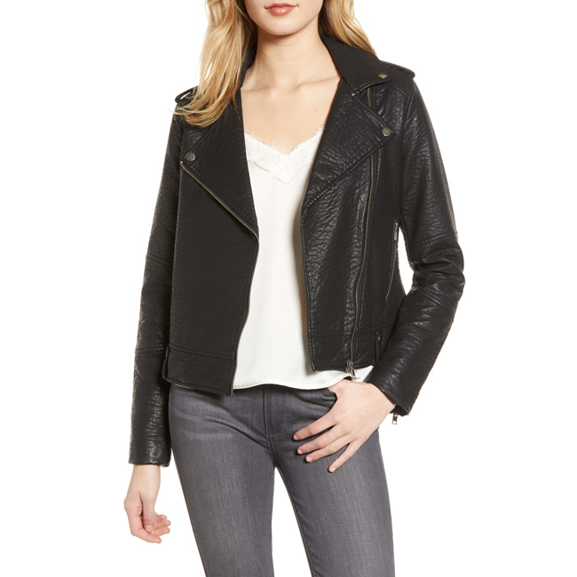 Spring Fashion Trends 2019 Cupcakes and Cashmere Vivica Faux Leather Jacket