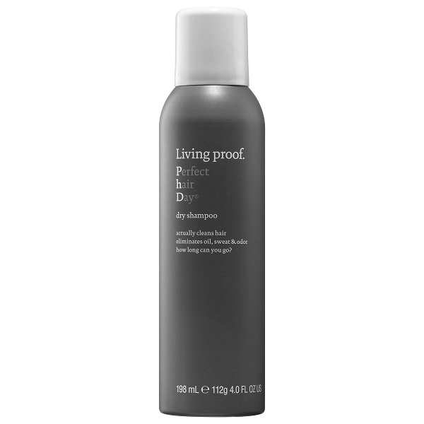 bottle of living proof dry shampoo for greasy hair fix
