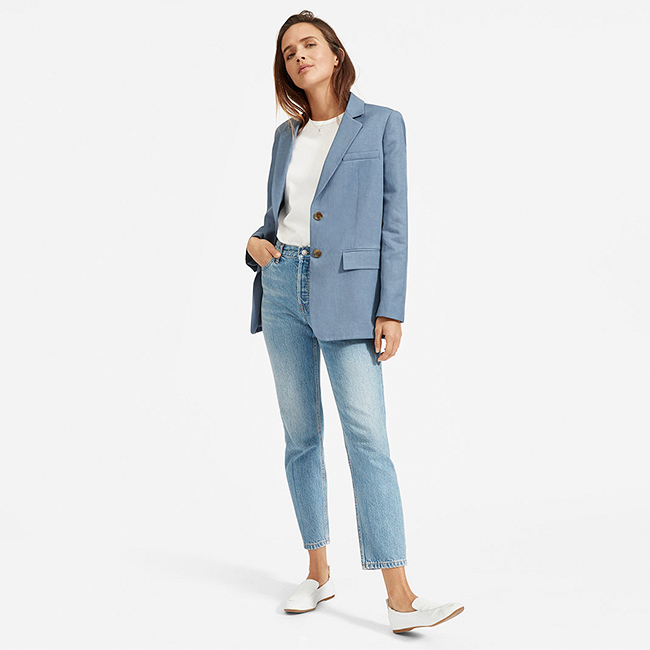 Everlane Cotton-Linen Blazer