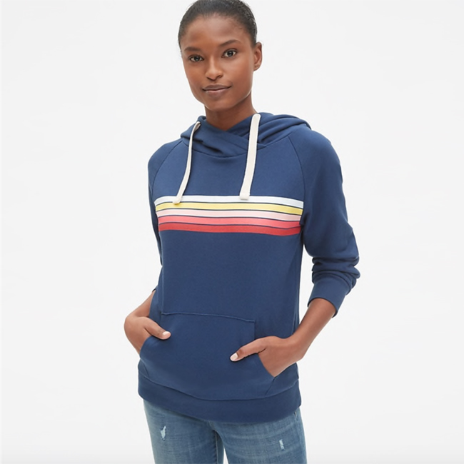 Spring Fashion Trends 2019 Gap Vintage Graphic Crossover Pullover Hoodie
