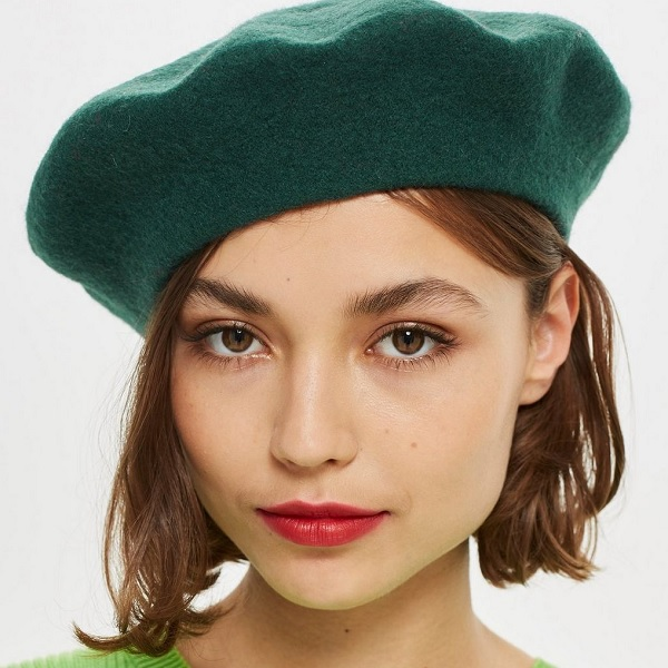 classic beret from topshop for a greasy hair fix