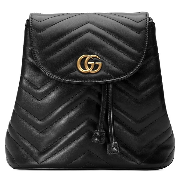 Gucci backpack in black leather