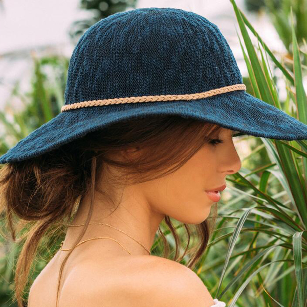 navy blue sun hats for women