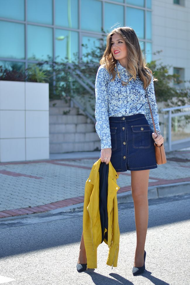 d0821455669b 16 Fresh Ways To Wear A Denim Skirt - More