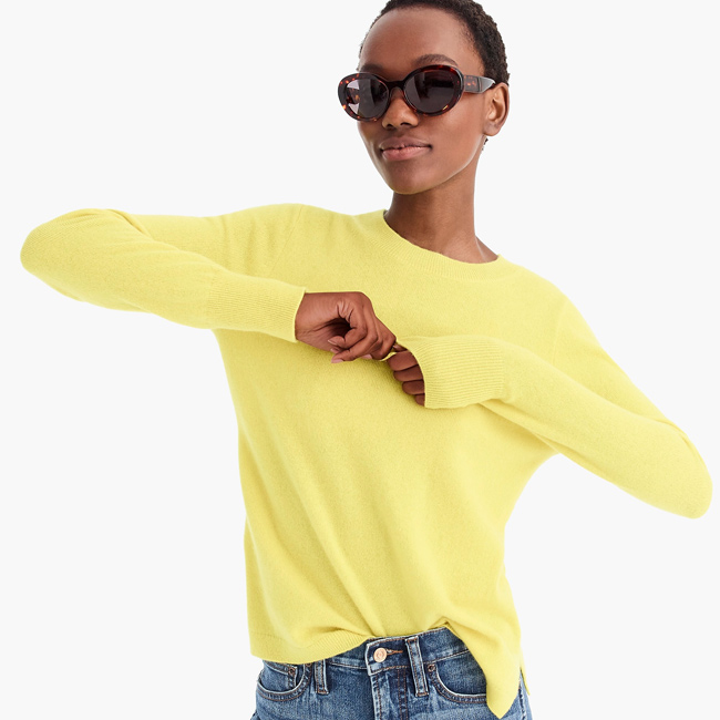 Spring Fashion Trends 2019 J.Crew Long-Sleeve Everyday Cashmere Crewneck Sweater