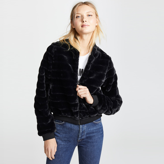 Valentine's Day Date Outfits Line & Dot Aspen Faux Fur Jacket