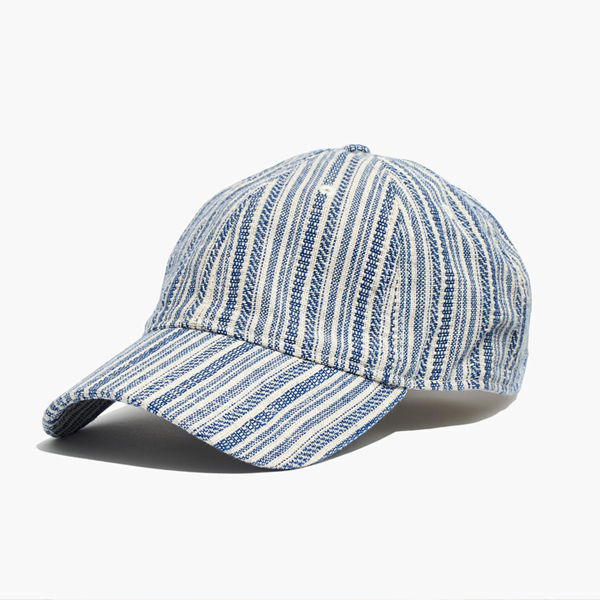 striped baseball style sun hats for women